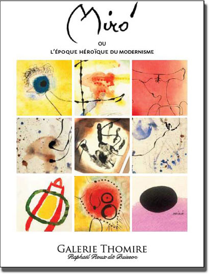 Catalogue de l exposition Joan Miro